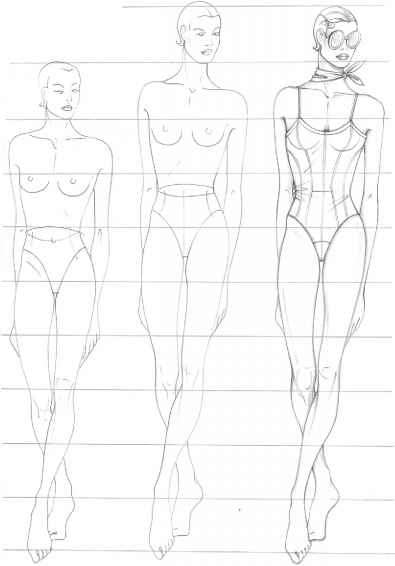 Outline Female Body Template