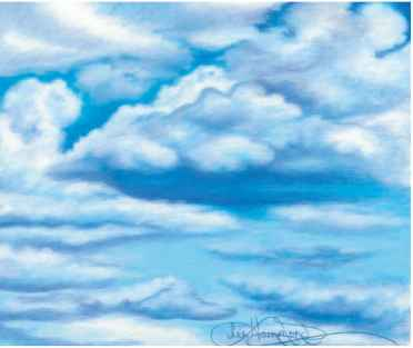Sky Drawing Colored Pencil