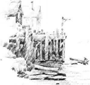 Harbor Scene Drawings