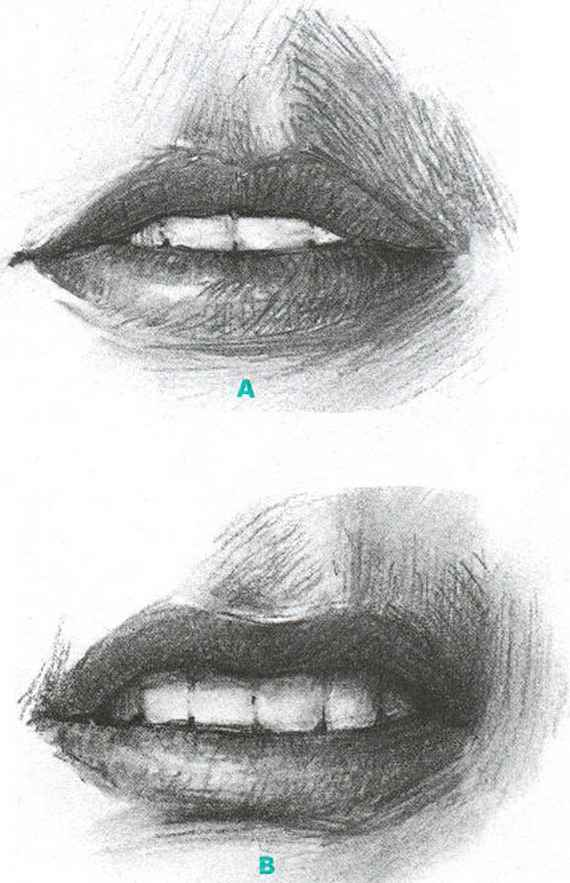 Lips Drawing Step Step