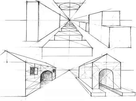 One Point Perspective Geometric