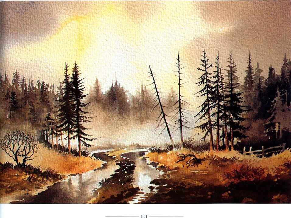 Watercolour Landscapes With Trees
