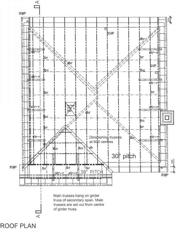 Roof Construction Drawing