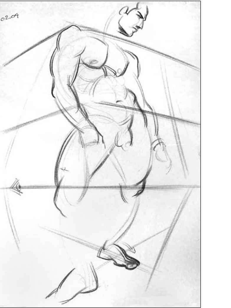 Body Perspective Drawing