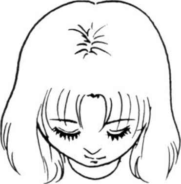 how to draw anime face looking down