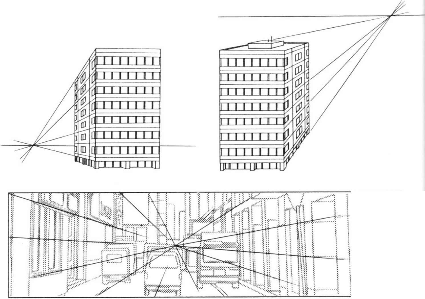 Perspective Drawings Of Buildings three point perspective buildings - draw manga - joshua nava arts