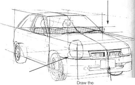 Centerline Perspective Cars Drawing