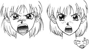 Pin em Anime |Mad Girl Face Drawing