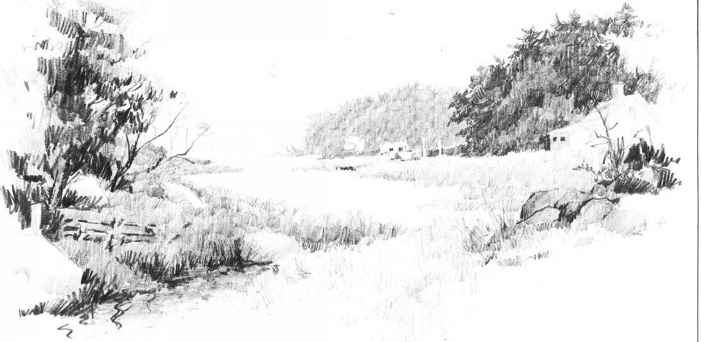 Landscape Pencil Drawing
