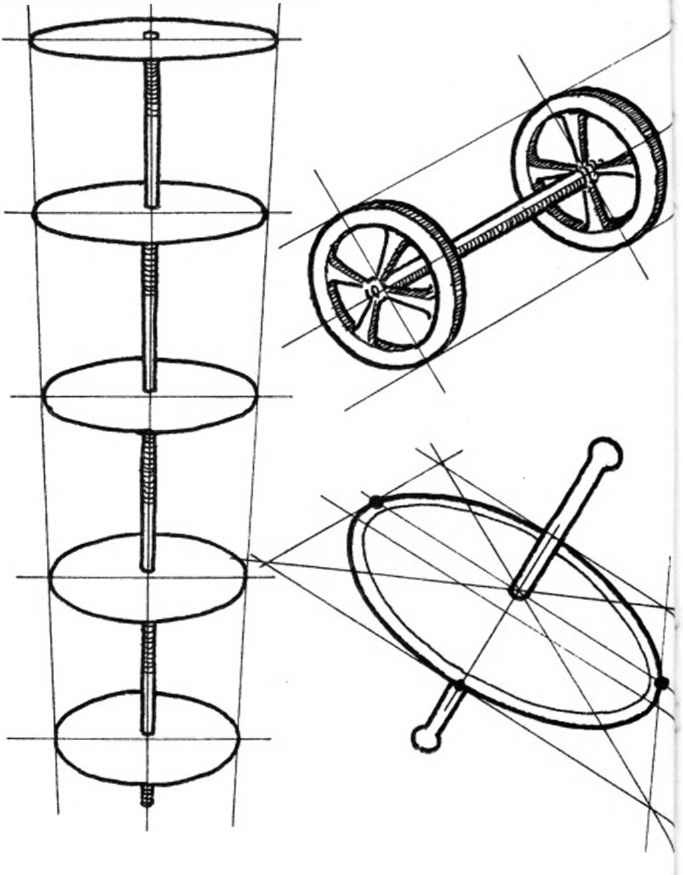 Cylinder Perspective Drawing