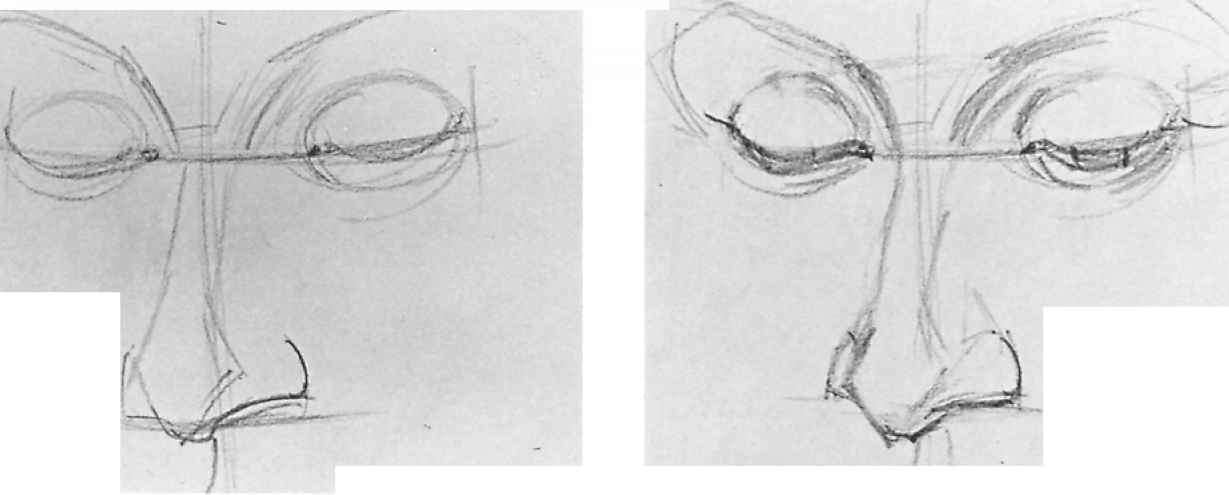 Pencil Sketches With Steps