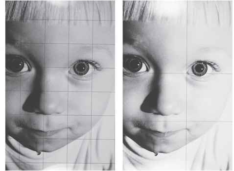 Image result for Grid drawing of faces