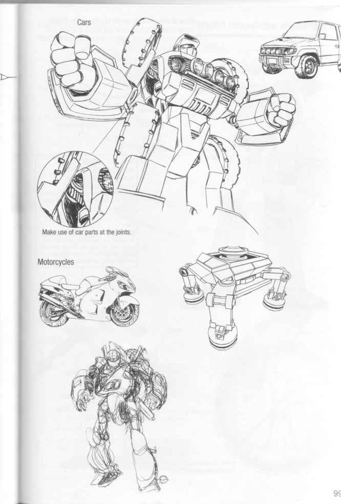 How Draw Manga Transforming Robots