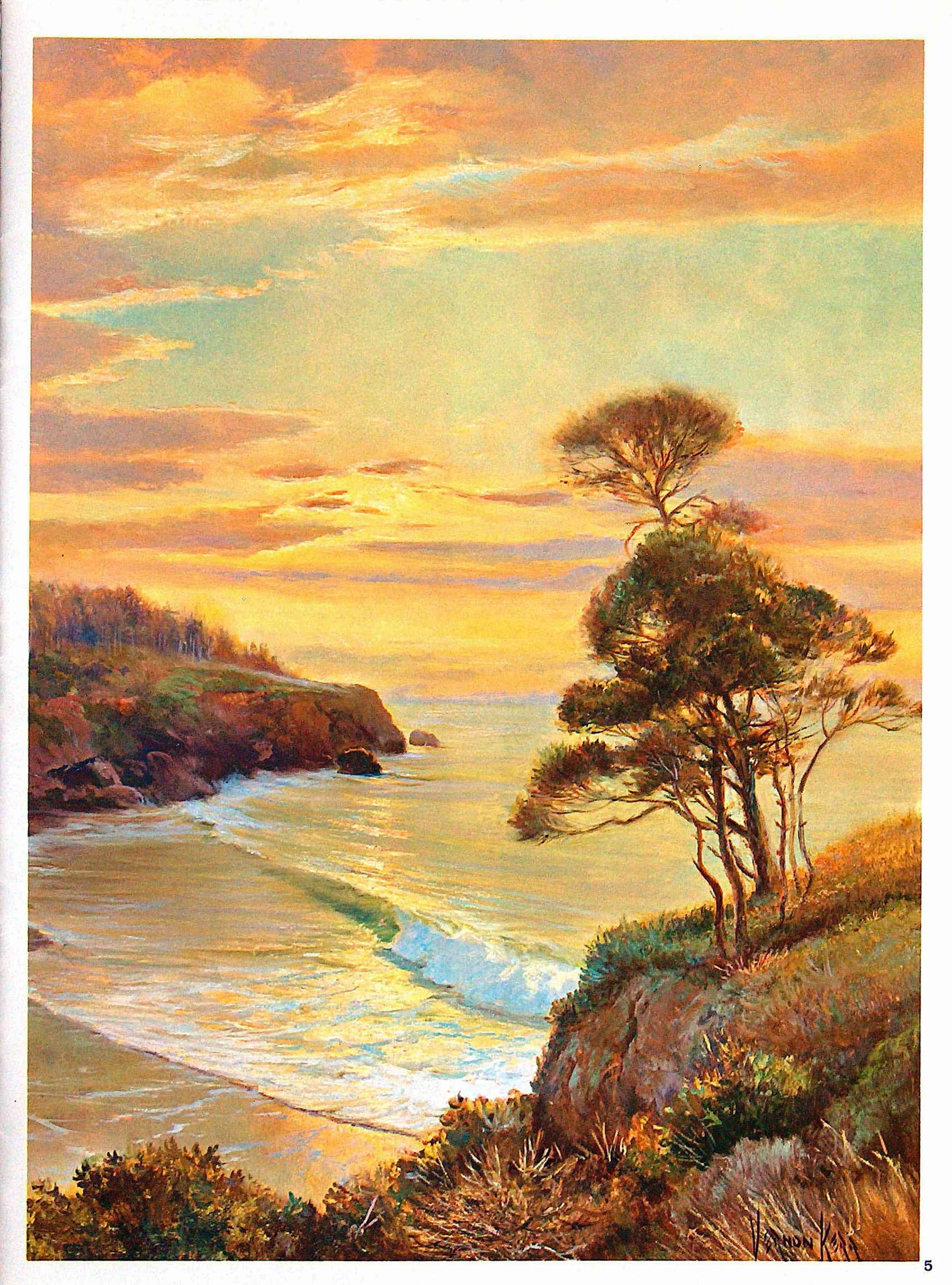 Stress less coloring by the shore - Complementary Color Burnt Orange Chrome Yellow