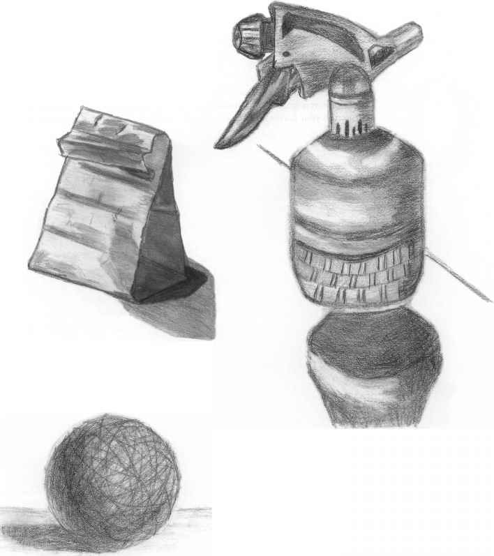 Value Study Polyhedron Drawing Pencil