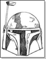 Boba Fett Helmet Drawing