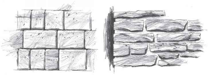 Pencil Sketch Bricks