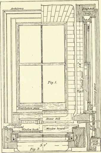 Technical Drawing Window Frame