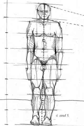 Pencil Technique Draw Body Proportion