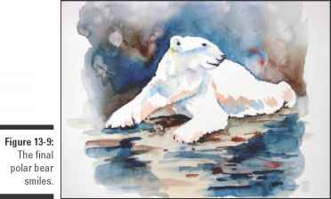 Watercolor Painting Polar Bear
